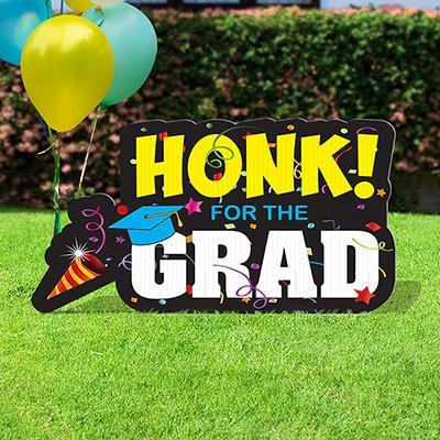 Honk I Am A Grad Lawn Sign