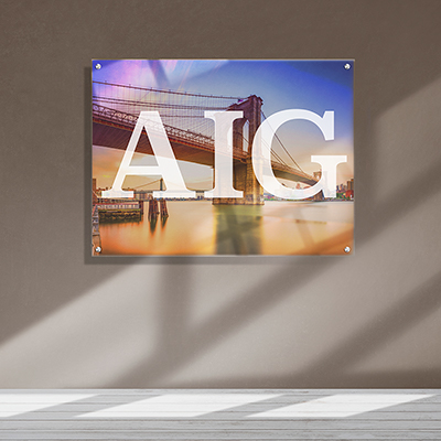 Acrylic Large Format Wall Mount
