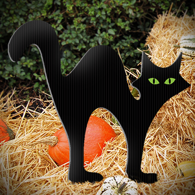 Black Cat Lawn Decoration