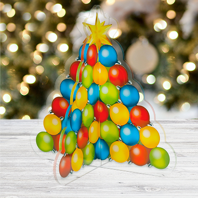 christmas ornament tree centerpiece