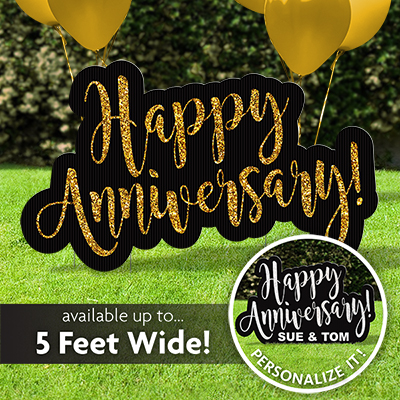 Happy Anniversary Lawn Sign