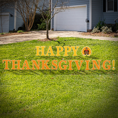 Happy Thanksgiving Yard Letters