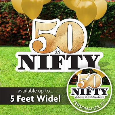 50th Birthday Lawn Sign