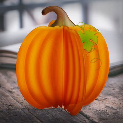 Harvest Pumpkin Acrylic Decoration