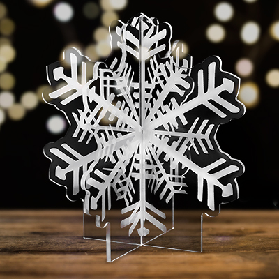 Snowflake tabletop centerpiece