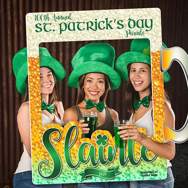 St. Patrick's Themed Selfie Frames