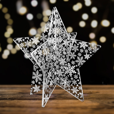 Star pattern tabletop decoration