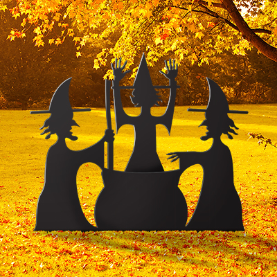 Coroplast Witch Lawn Decorations