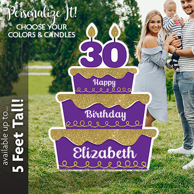 Large Birthday Cake Lawn Sign