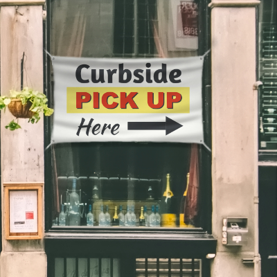 Curbside Pickup Banner