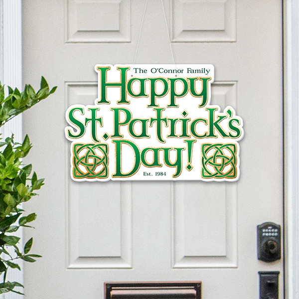 St. Patrick's Day Door Decoration Sign