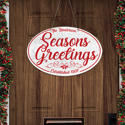 Seasons greetings door sign