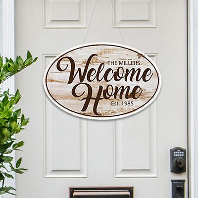 Welcome Home Door Hanging Sign