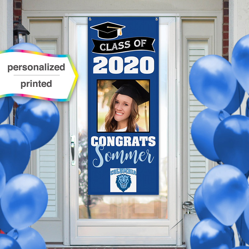 Personalized Class of 2020 Congrats Banner Vertical