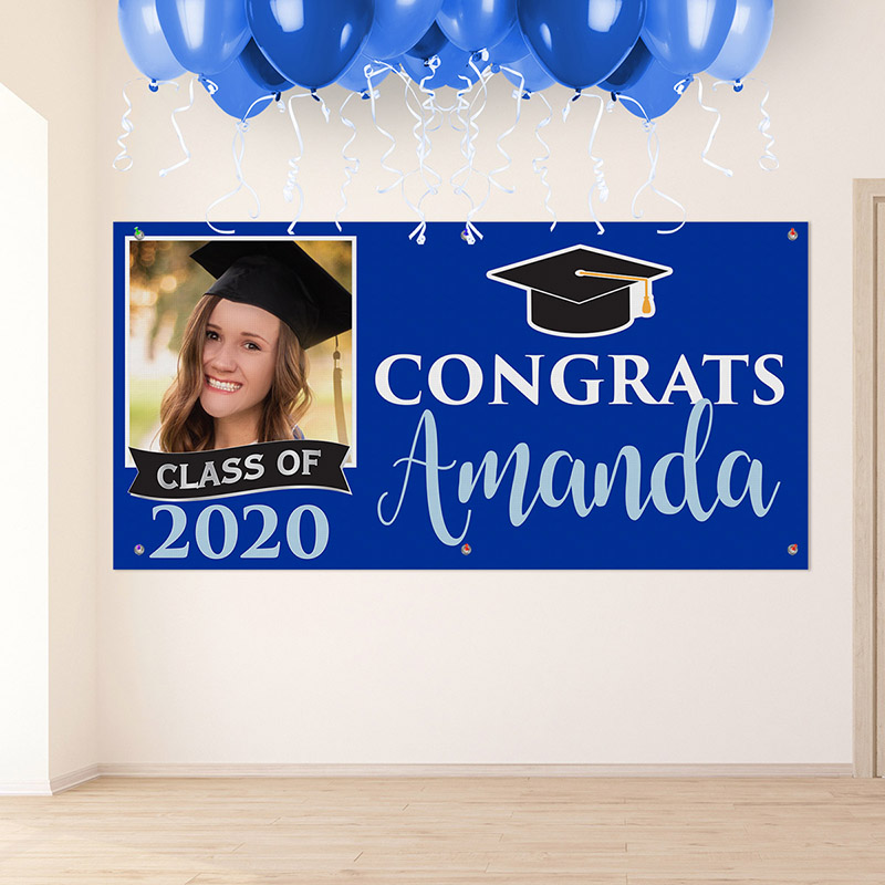 Class of 2020 Congrats Personalized Banner Horizontal
