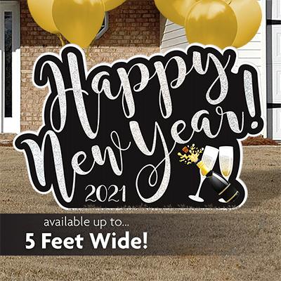 New Year Yard Sign