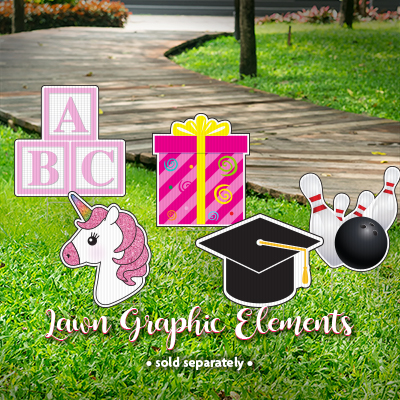 Lawn Graphic & Character Signs