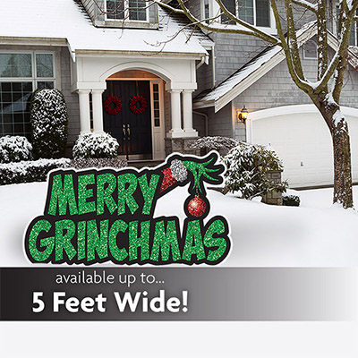Merry Grinchmas Lawn Sign