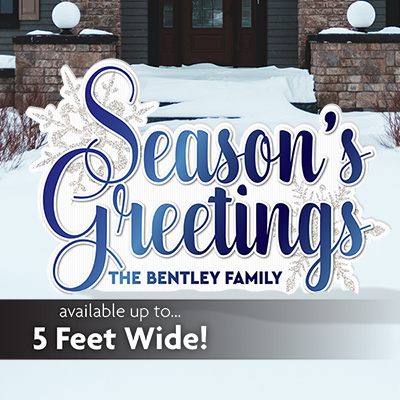 Season Greetings Yard Sign