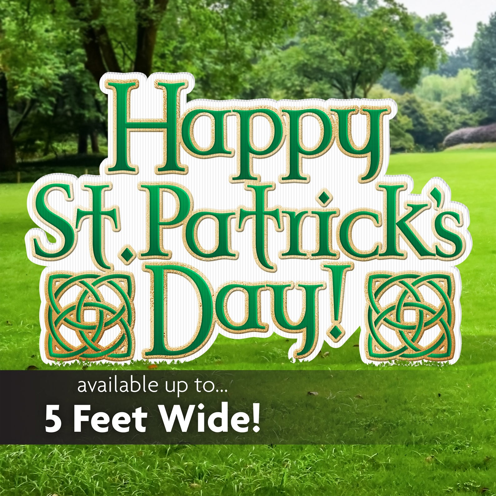 Happy St. Patrick's Day Yard Sign